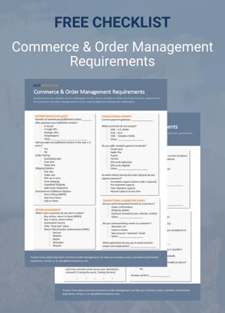 Landing Page Asset_FREE CHECKLIST Commerce & Order Management Requirements